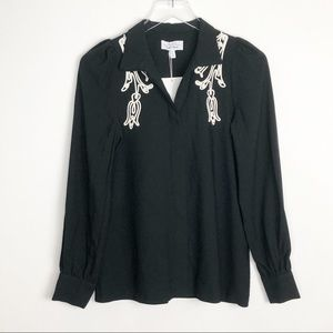 & OTHER STORIES Embroidered Puff Shoulder Top 4